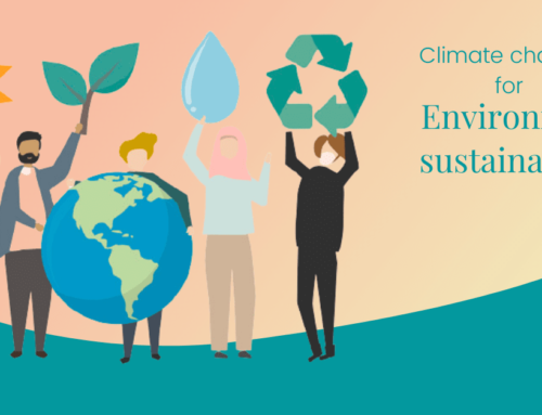 Climate change : as a part of the environment sustainability.
