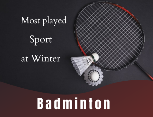 Badminton : Most played sports at winter.
