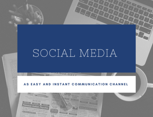 Social media is an easy and instant communication channel.
